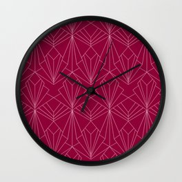 Art Deco in Raspberry Pink Wall Clock