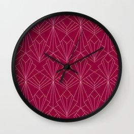 Art Deco in Raspberry Pink Wall Clock