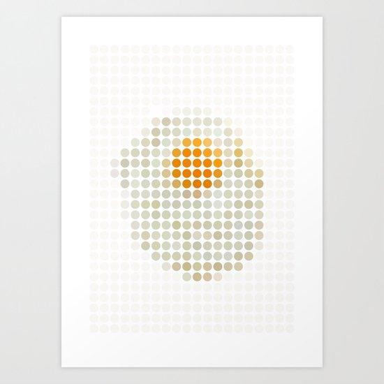 and egg. Art Print
