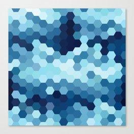 Hexazure Canvas Print