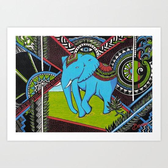 Elephant's sense Art Print