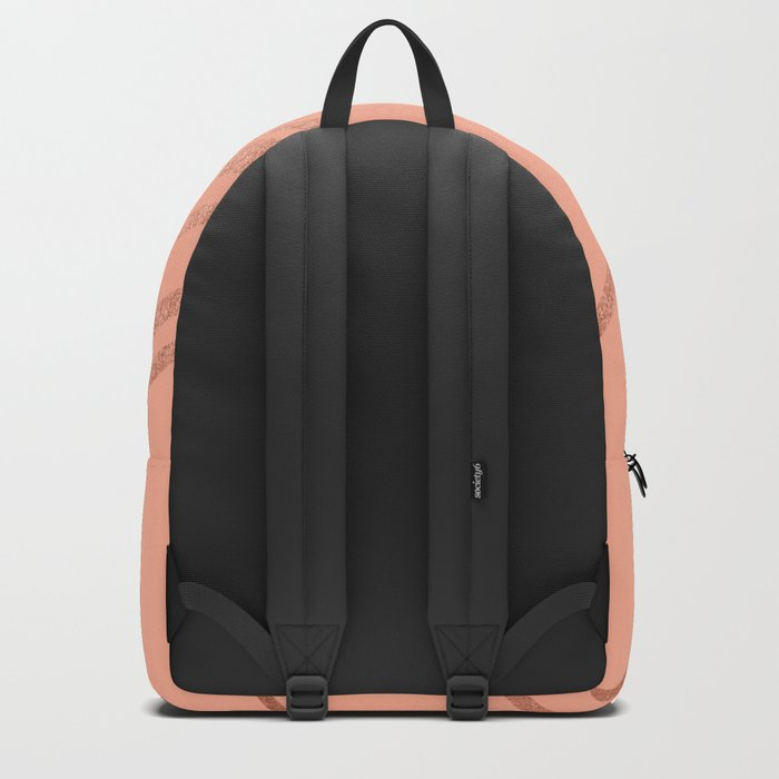 Sweet Life Swipes Peach Coral Shimmer Backpack