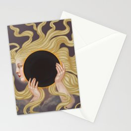 Lady of the Solar Eclipse Stationery Cards