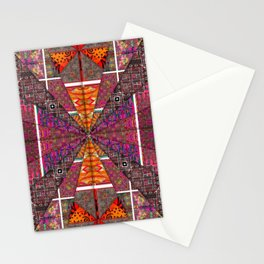 no. 256 brown maroon orange red Stationery Cards