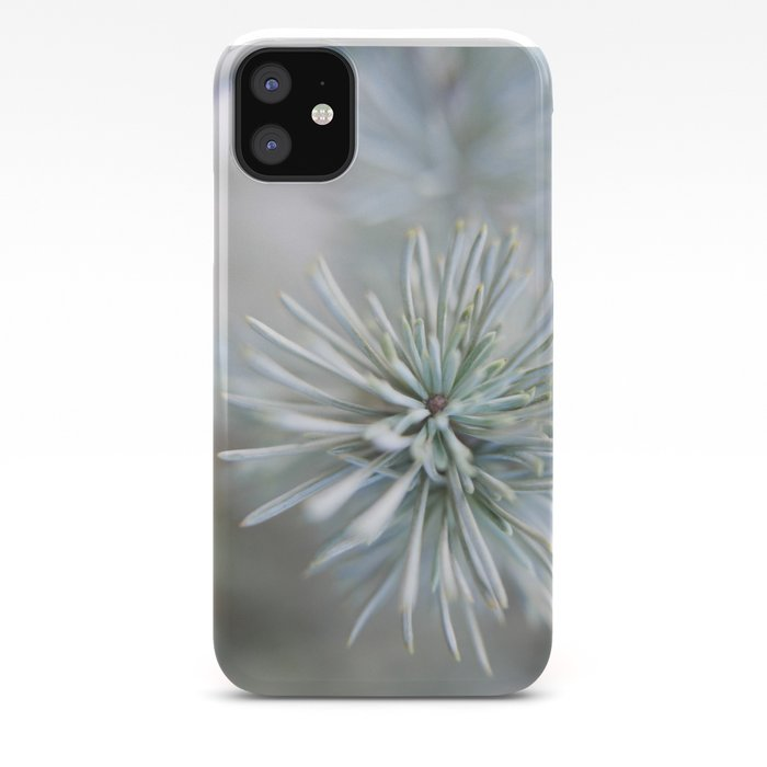 pine needles in blurry green shades iPhone Case