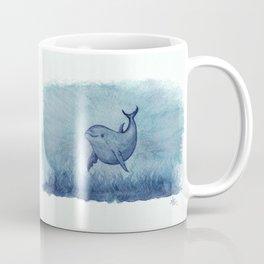 Notches Blue ~ Dolphin Watercolor, (Copyright 2013) Coffee Mug