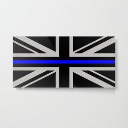 Police: British Flag & The Thin Blue Line Metal Print