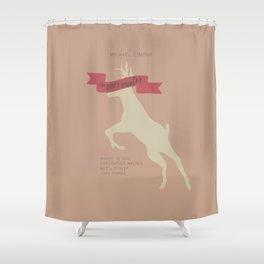 The Deer Hunter, Minimal movie poster, Michael Cimino film, alternative, Christopher Walken, De Niro Shower Curtain