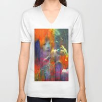 returns V-neck T-shirts featuring Fast mom returns by Ganech joe