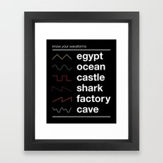Know your Waveforms Framed Art Print