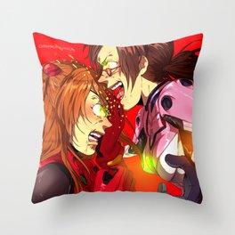Beast Mode Babes Throw Pillow