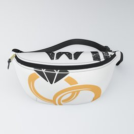 Wife 19th  Anniversary Gift, Women's Wedding Present Print Fanny Pack