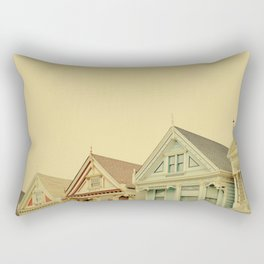 Painted Ladies in San Francisco - Fine Art Photography Rectangular Pillow