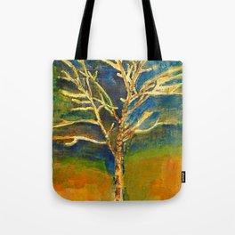 Golden Birch Tote Bag