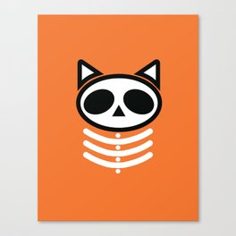 Spooky Skeleton Cat  Canvas Print