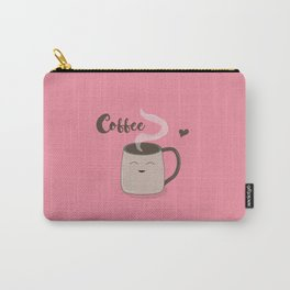 Happy Coffee Mug Carry-All Pouch