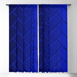 Herringbone Gradient Dark Blue Blackout Curtain