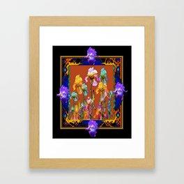 Richly Colored Italian Style Black Iris Art Framed Art Print