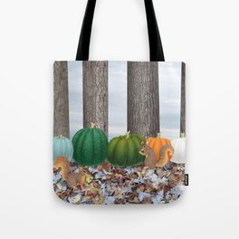 fox squirrels, heirloom pumpkins, & acorns Tote Bag