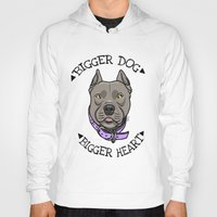 pitbull Hoodies featuring Pitbull by pixxelr
