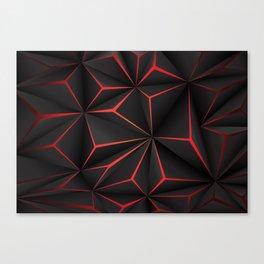 Futuristic Triangulation Canvas Print