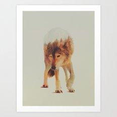 Norwegian Woods: The Grey Wolf Art Print