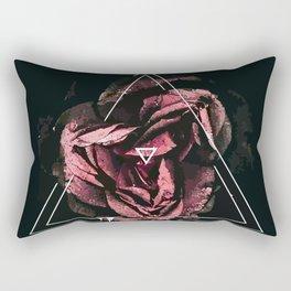 A flower in a triangle Rectangular Pillow