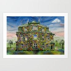 The Flowerhouse Art Print