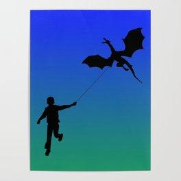 Magical Dragon Dragon (blue green) Poster