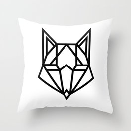 Web Fox Throw Pillow
