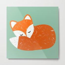 Cute sleeping fox   Metal Print