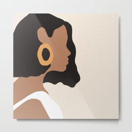 Minimal Woman Painting Metal Print