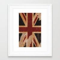 flag Framed Art Prints featuring Flag by April Gann