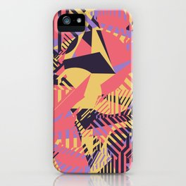 Dazzle Camo #03 - Purple & Yellow iPhone Case
