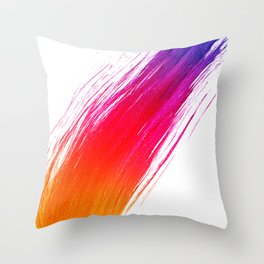 Paint Smear Throw Pillow