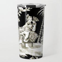 Black & White Chinoiserie Travel Mug