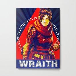 Wraith Apex Legend Metal Print