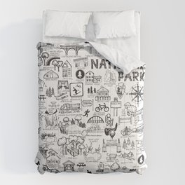 Cuyahoga Valley National Park Map Comforters