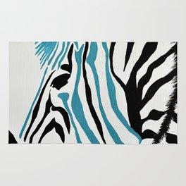 punk rock zebra Rug