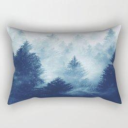 Foggy Woods I Rectangular Pillow
