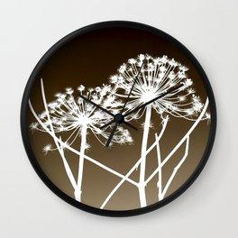 Cow parsnip - Tromso palm Wall Clock