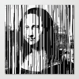 Mona Lisa Barcode Huge Limited Print 2017 Canvas Print