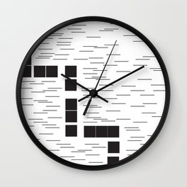Continuation Line Wall Clock