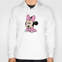 minnie mouse Hoodies featuring Cute baby Minnie Mouse by Yuliya L