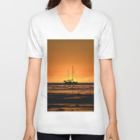 sailboat V-neck T-shirts featuring Sailboat  by GG's photography.