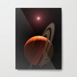 Hubble Space Telescope - Artist's View of Planet Around a Red Dwarf Metal Print