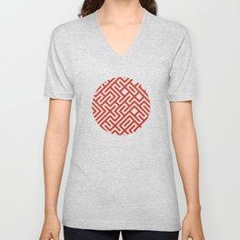10 Print: Bold Red Unisex V-Neck