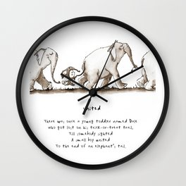 Elephant Limerick Wall Clock