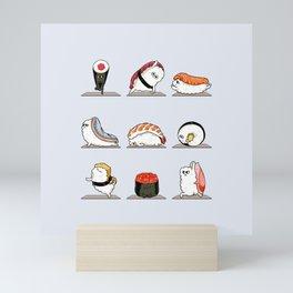 Sushi Yoga Mini Art Print