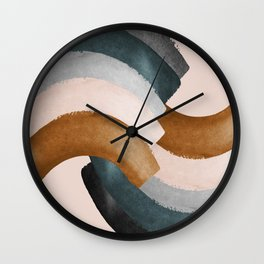 Brushstroke rainbows Wall Clock